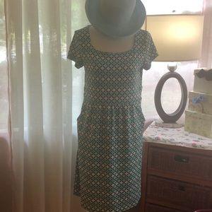 Charter Club Dresses - Charter Club jersey print dress with pockets XL